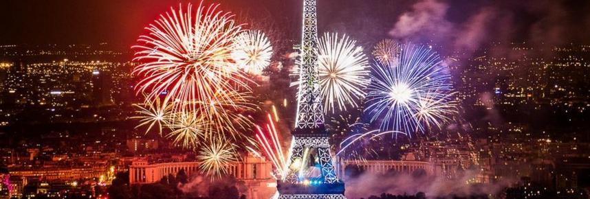 Les feux d'artifice du 14 juillet à Paris