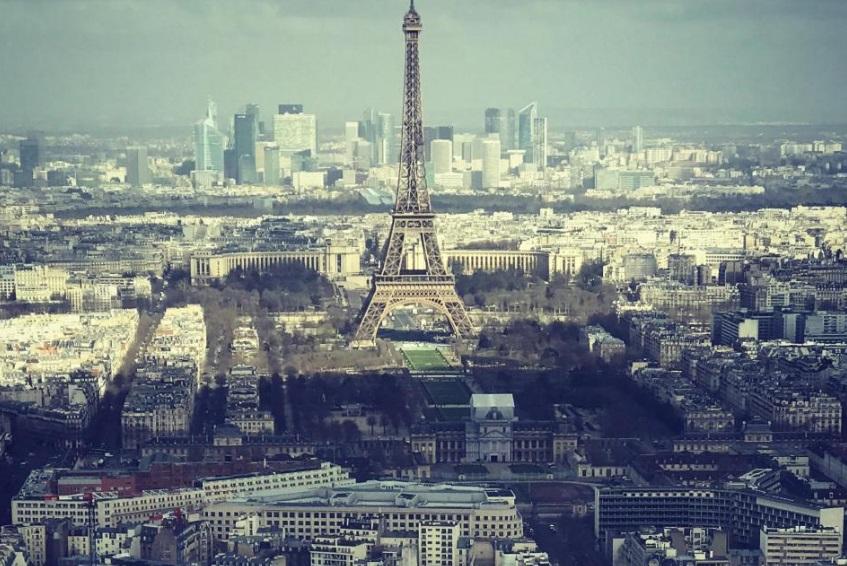 Vue Paris sur Tour Eiffel